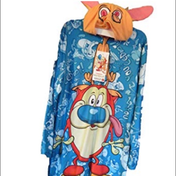 Nickelodeon Other - REN & STIMPY Themed One Piece Footless Pajamas